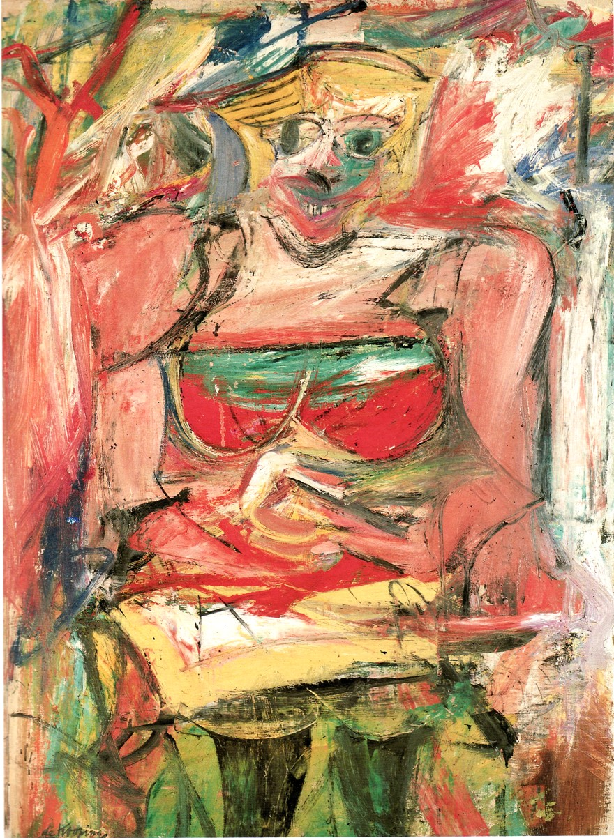 "Willem de Kooning, ""Woman V"" (1950)"
