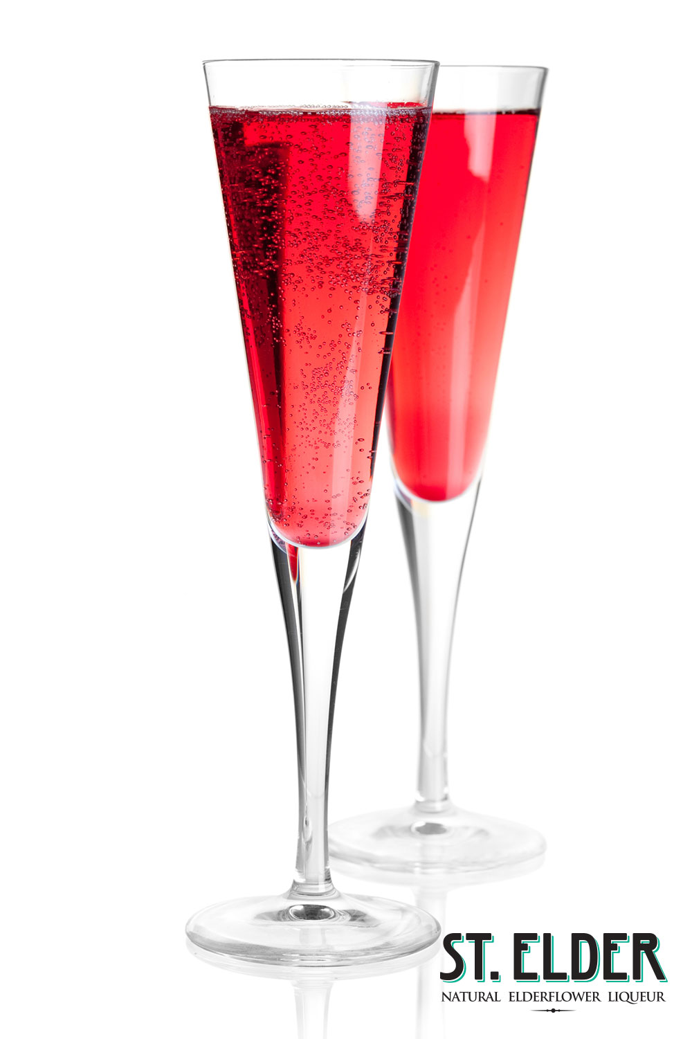red ruby sparkling cocktail