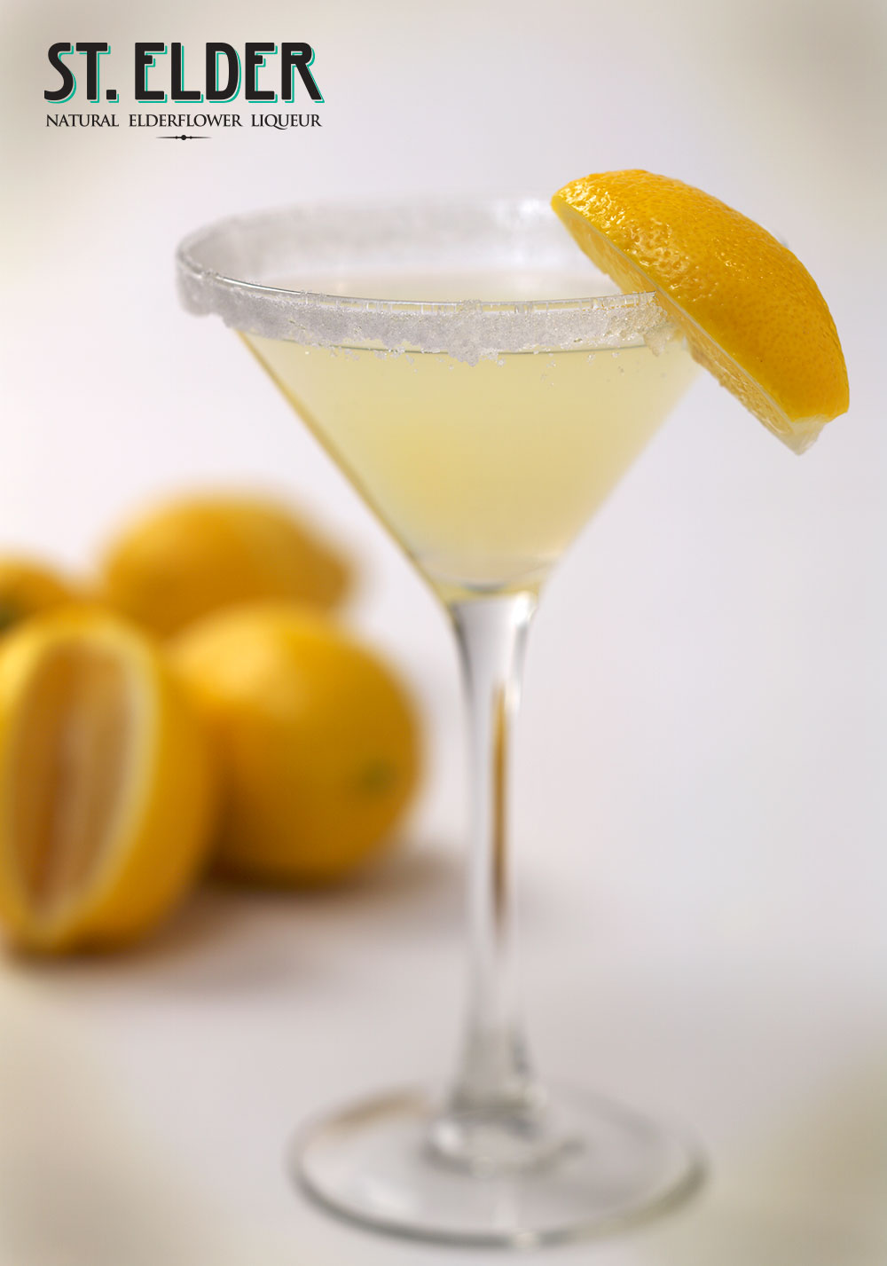 sparkling lemon drop cocktail