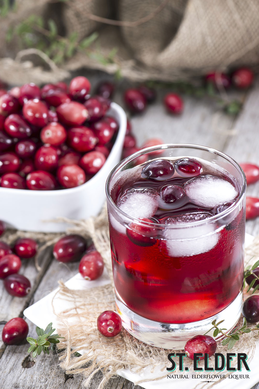 cranberry elderflower lemonade