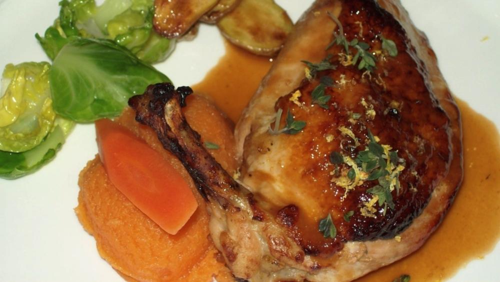 Braised Airline Chicken with Marsala Sauce