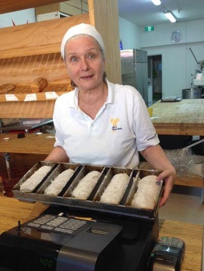 @At Sylvia's bakery