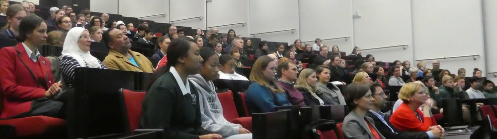 At the Fisher & Paykel Appliances auditorium at Auckland University