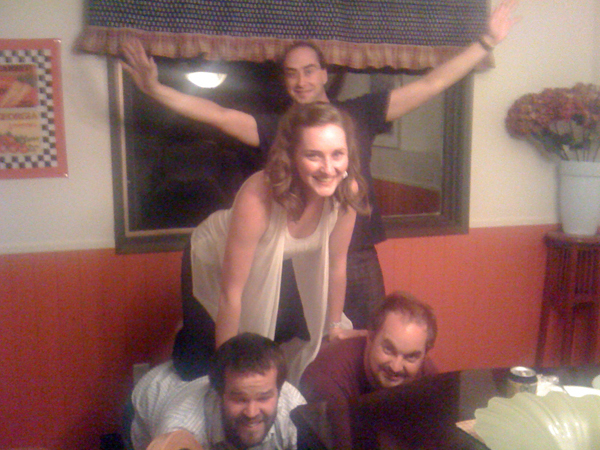 Really, what other folk band around can do such an incredible human pyramid?!