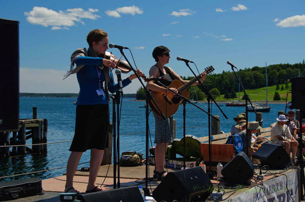 Lizzy Hoyt and Maria Dunn - Lunenburg Folk Harbour Festival 2010  Photo by Michael Thompson