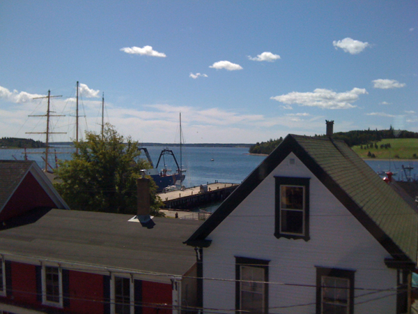 View from our guest house at the Lunenburg Folk Harbour Festival 2010!