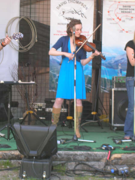 Lizzy at the Canadian Rockies Bluegrass Festival - 2008
