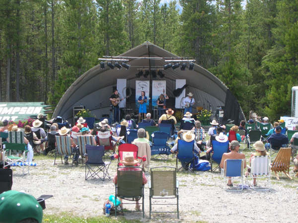 Blue Crown Express at the Canadian Rockies Bluegrass Festival - 2008