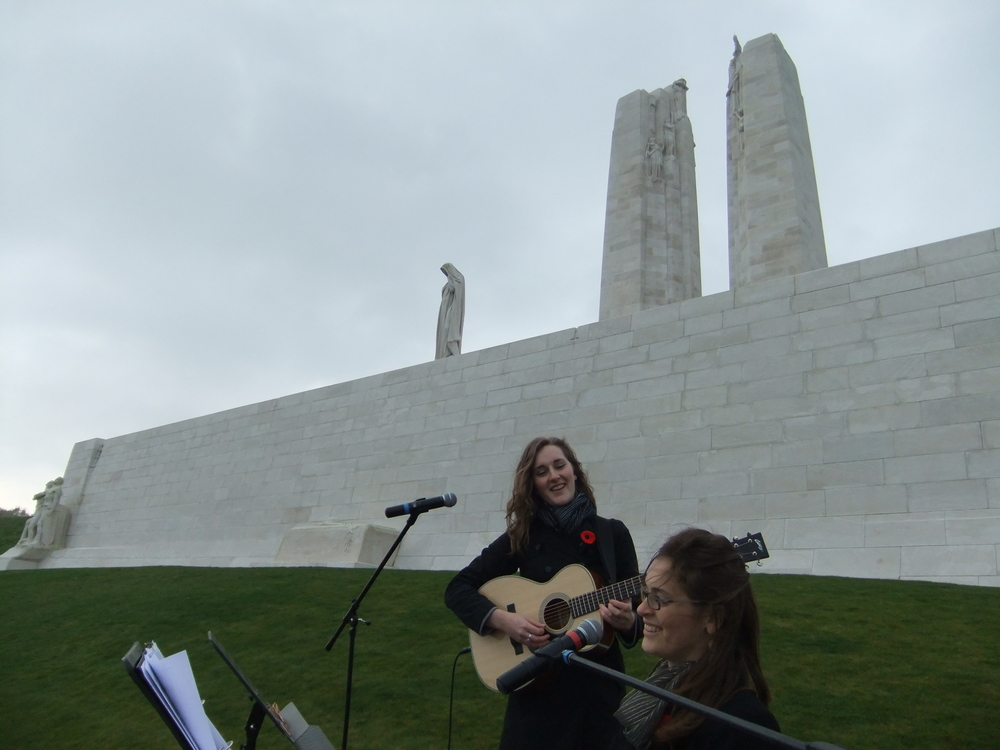 Remembrance Day Ceremony Vimy Ridge 2011