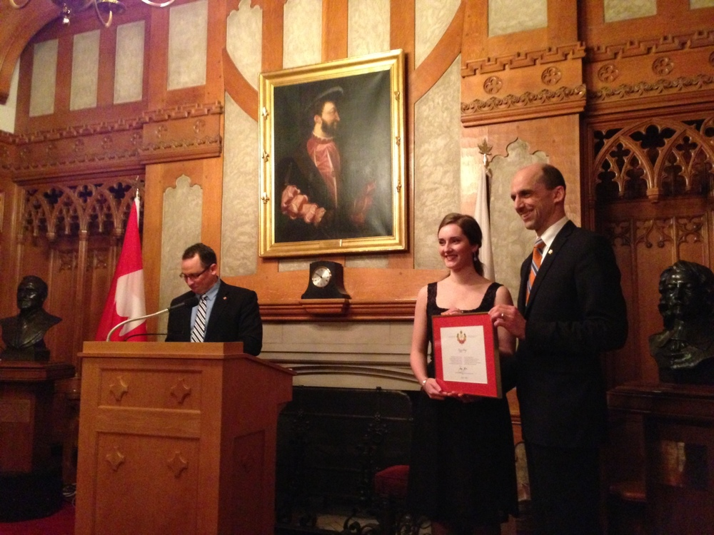 Receiving the Queen's Diamond Jubilee Medal 2013