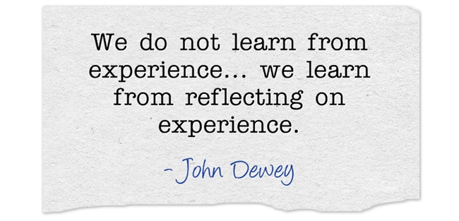 John Dewey Reflection Quote