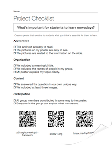 Click above to download a copy of the checklist we used for our project.