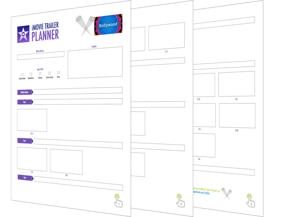 storyboard template app - plan a better imovie trailer with these pdfs learning in