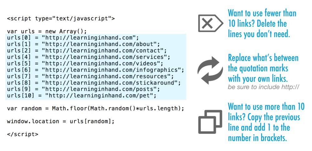 html random link generator code 20ft