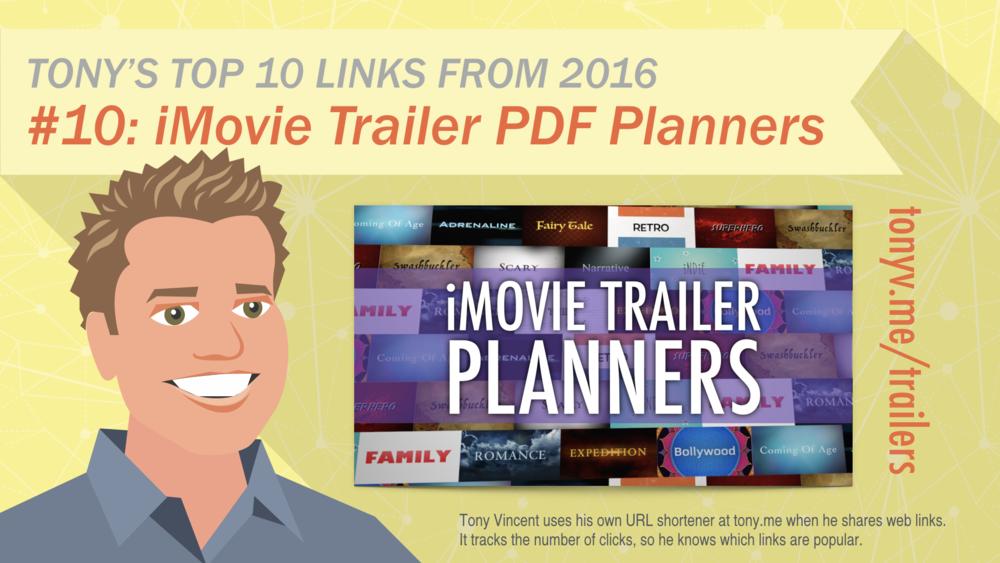 #10: iMovies Trailer PDF Planners