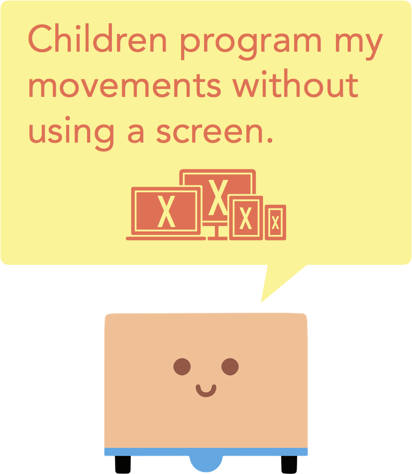 """Children program my movements without using a screen."" -Cubetto"