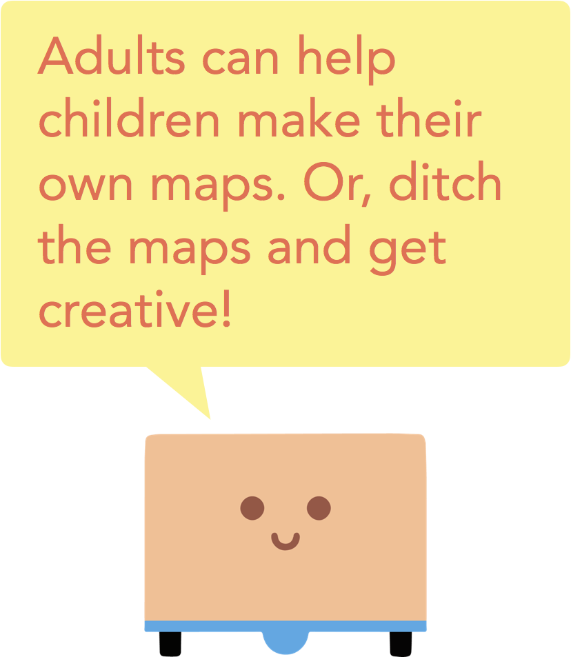 Adults can help children make their own maps. Or, ditch the maps and get creative.