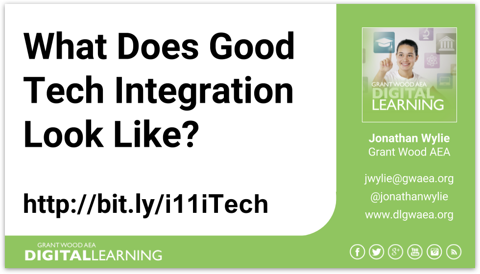 What does good tech integration look like - Title Slide