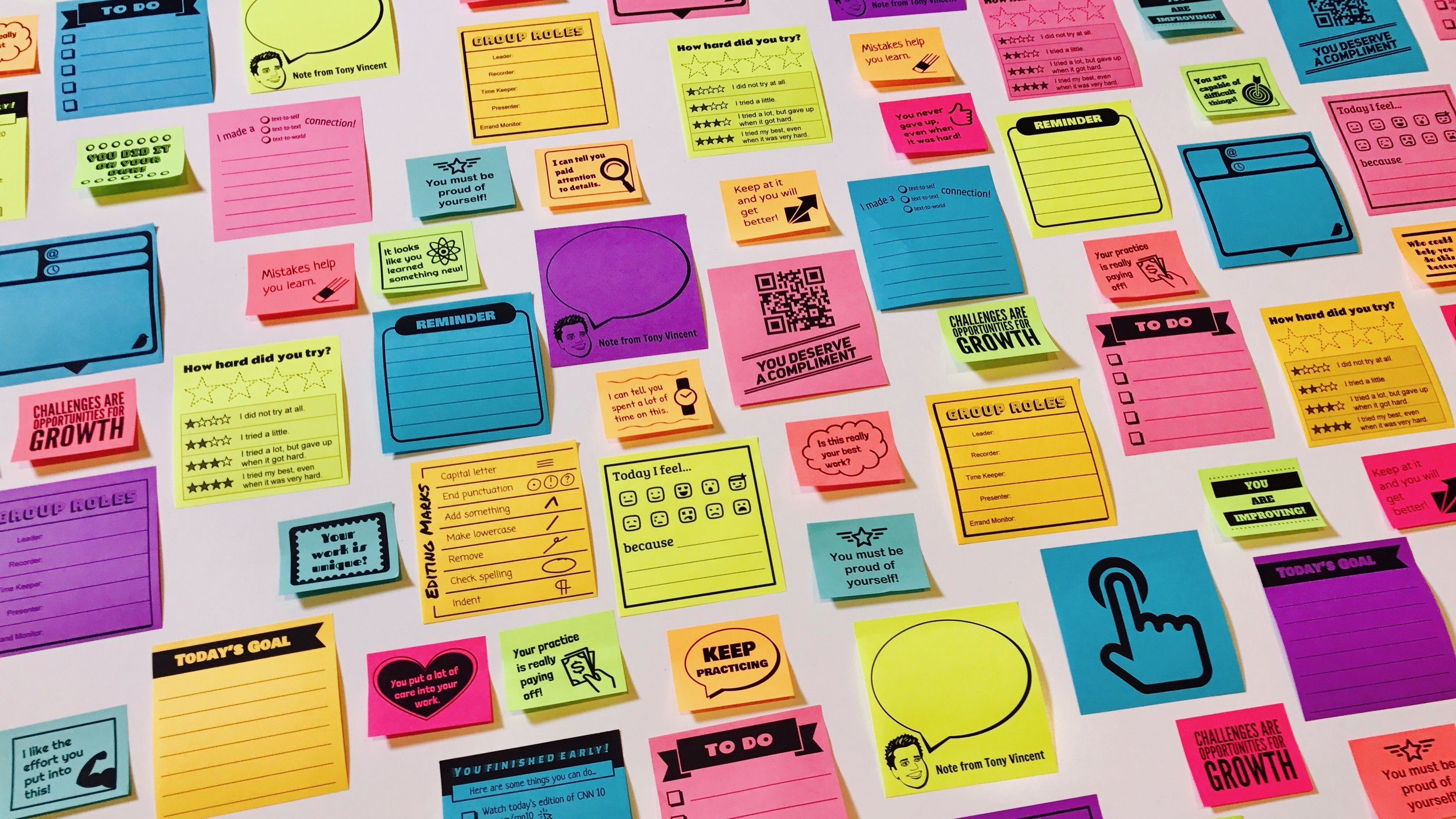 photo regarding Editable Post It Note Template called Print Personalized Sticky Notes with Google Slides Studying inside