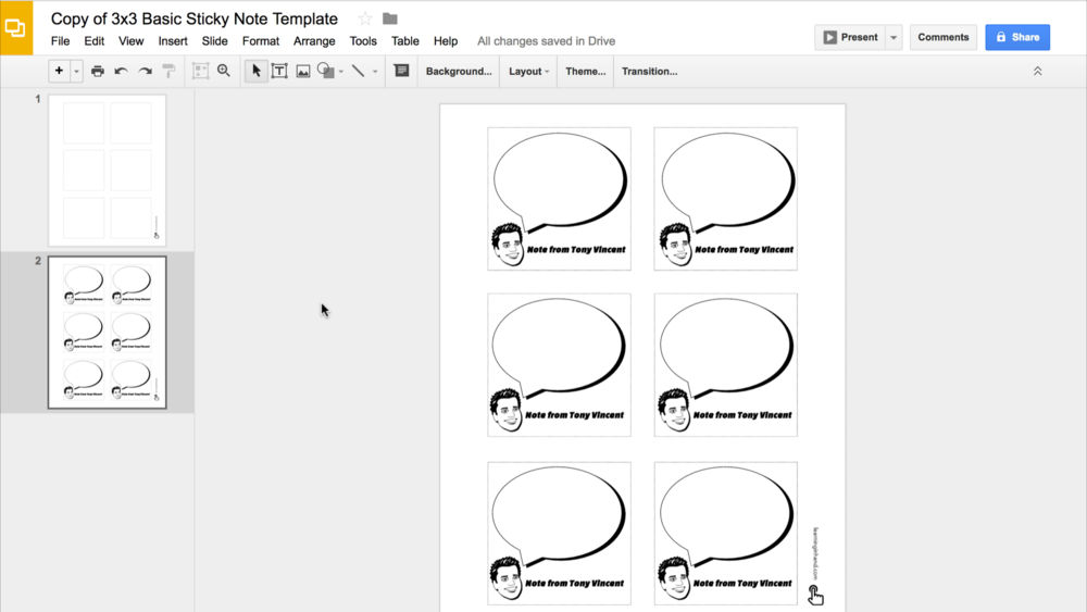 Beautiful Design Notes In Google Slides