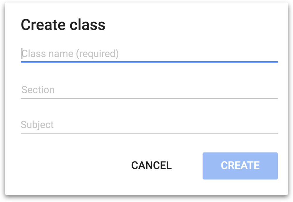 Create a class