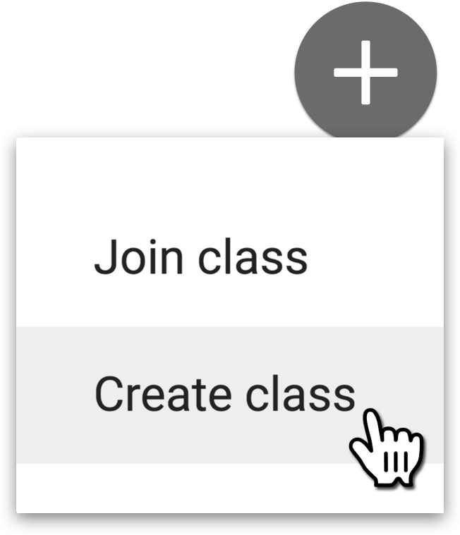 Create Class Menu Option
