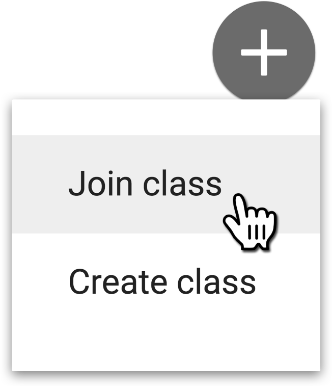 Join Class from the + button