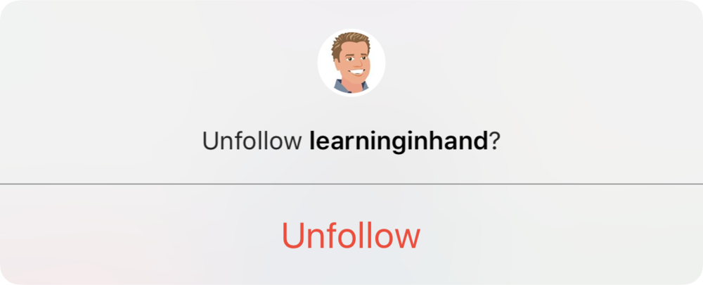 Unfollow Option