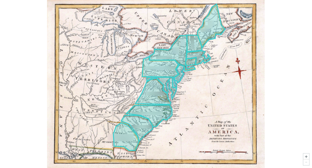 Thirteen U.S. Colonies