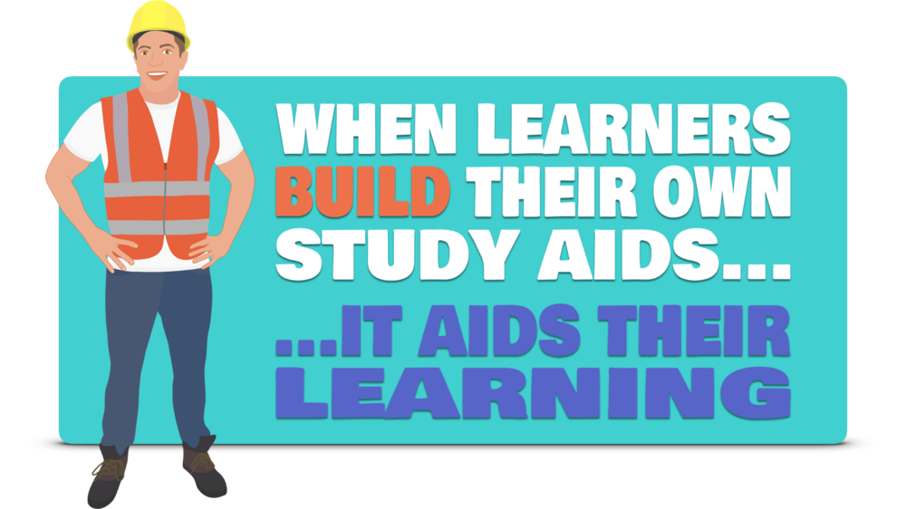 When learners build their own study aids... ...it aids their learning
