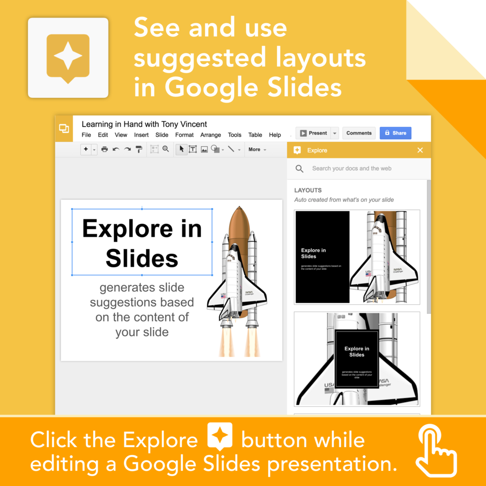 get creative with google slides learning in hand with tony vincent