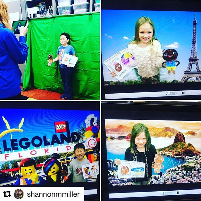 #Repost @shannonmmiller check out where all these Gingerbread men are going! ・・・ Today our Gingerbread Men are traveling around the world using @doinkapps 😊The kids are going to love seeing these! 🎄❤️#vanmeter #futurereadylibs #tlchat #greenscreen #DoInk