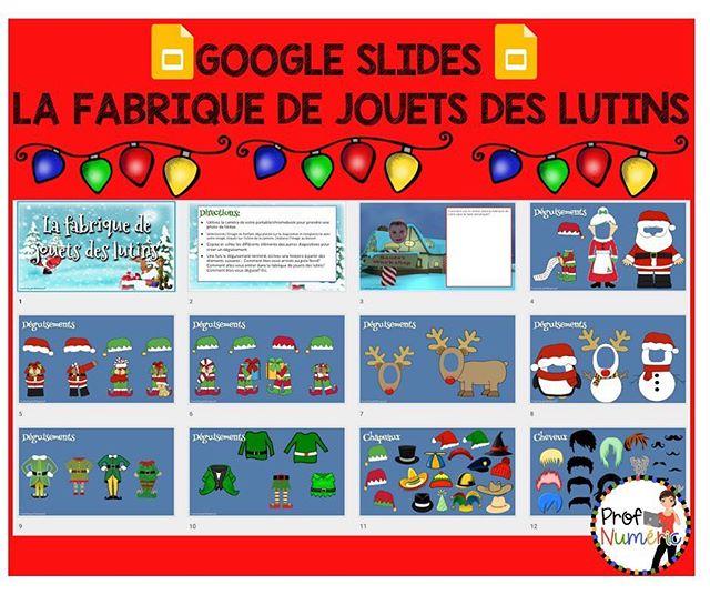🎁Google Slides - La Fabrique de jouets des Lutins🎁 -Compte Google nécessaire (Gmail ou G-Suite). 🎅Téléchargez une copie gratuitement en cliquant sur ce lien : http://bit.ly/Slides_Lutins 🤶Vous aimez? Partagez :)