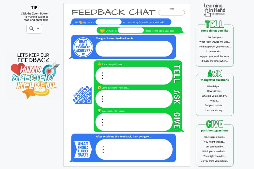 Feedback Chat Digital Version Screenshot