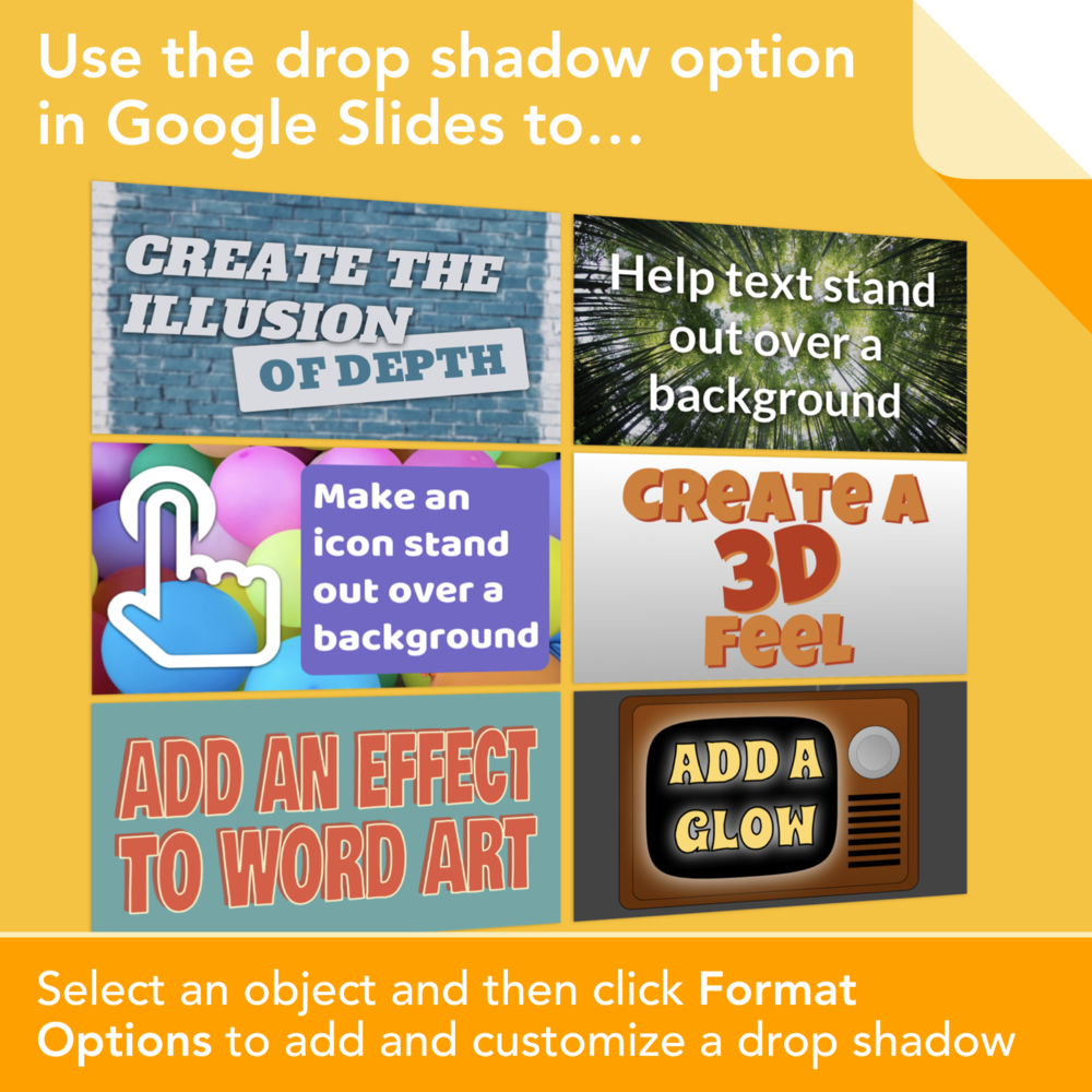 You Can Add A Drop Shadow Effect In Google Slides And Drawings The Most