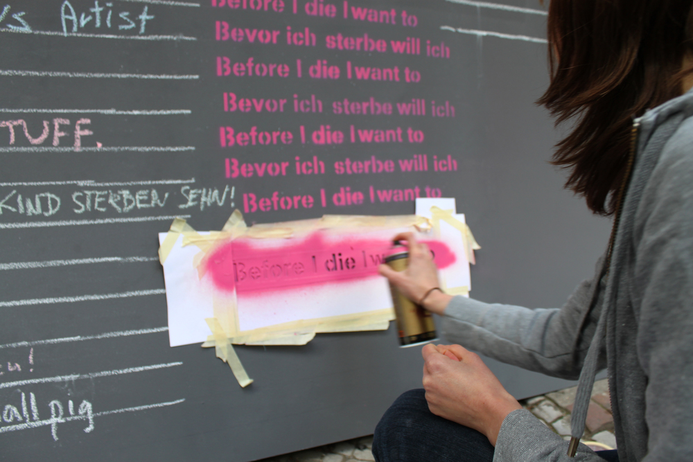 Before I die Berlin set up
