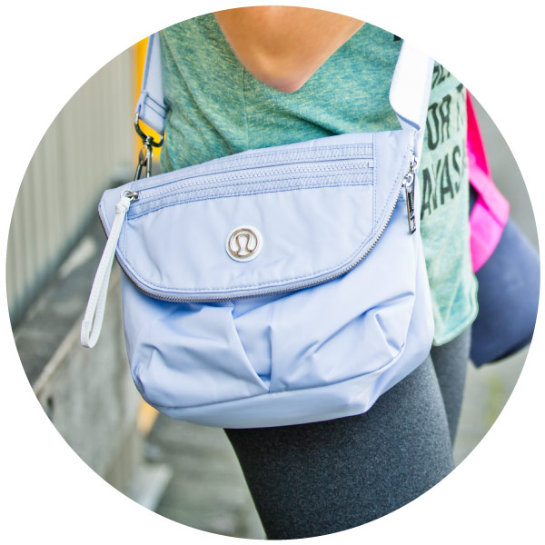Another bag  perfect for festivals and outdoor yoga, created for lululemon athletica