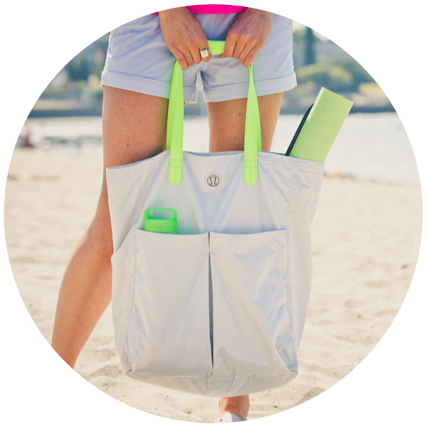 A yoga tote for lululemon athletica