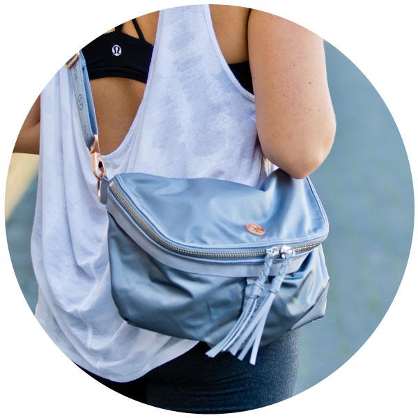 A festival bag for lululemon athletica