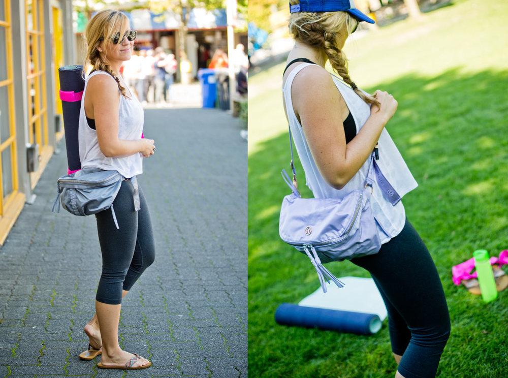 Wear it around the waist or cross body: yogi's choice. Photos: Bright Photography