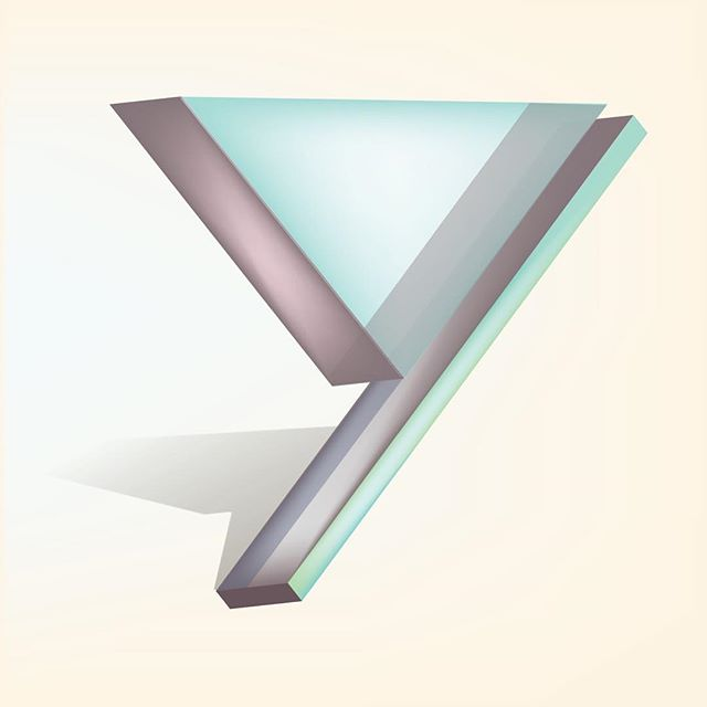 Glass Letter Series - Y. #36daysoftype #typography