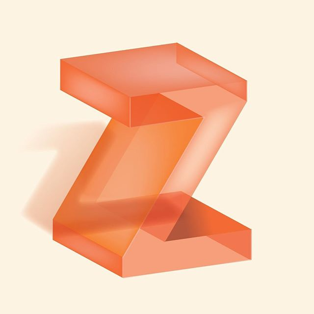 Glass Letter Series - Z. #36daysoftype #typography (numbers next!)