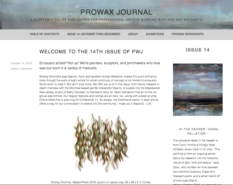 Carol Pelletier Prowax Journal