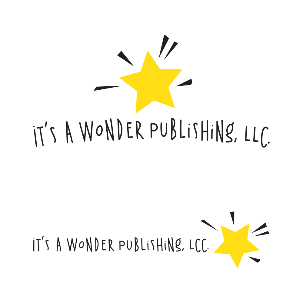Two versions of the final logo for It's A wonder Publishing, LCC.