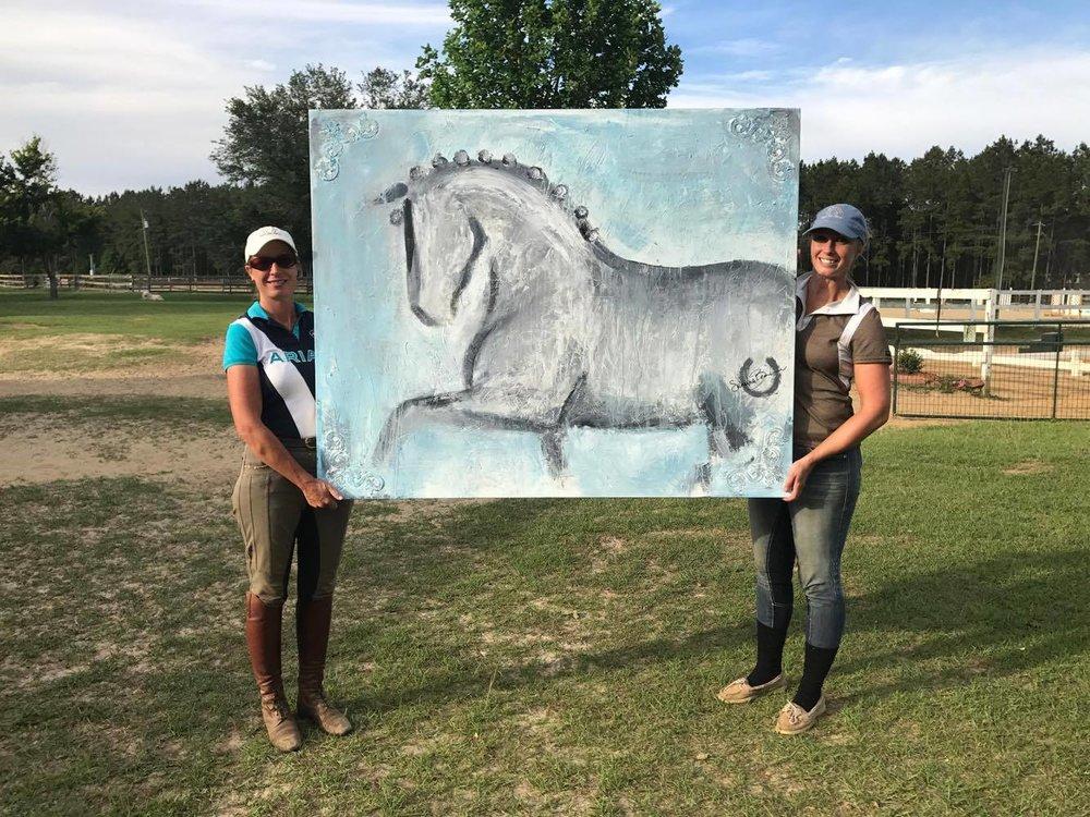 Danalynns Dream Custom Painting Art on Horseback Sandra Beaulieu Marsha Sapp 2.jpg