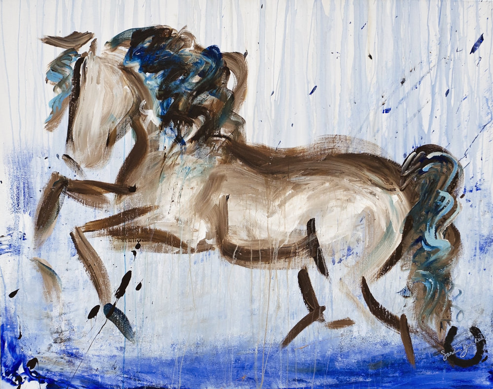 Dancing in the Rain - Art on Horseback #2