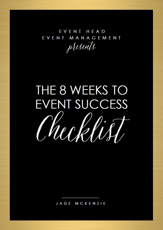 EVENT HEAD Event Management   8 Weeks To Event Success Checklist Promo  Pic