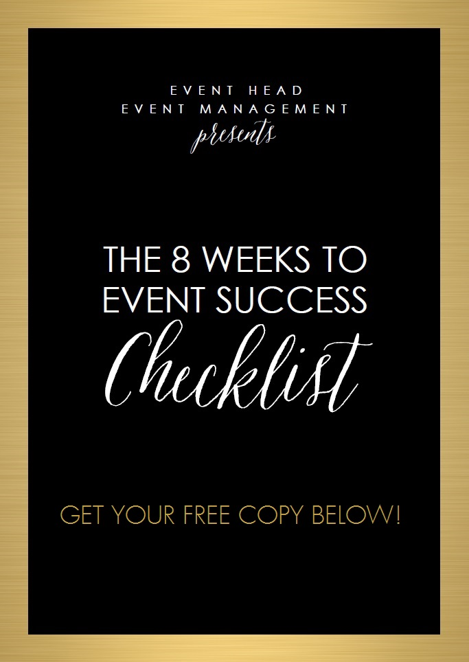 8 Weeks To Event Success — Event Head Event Management