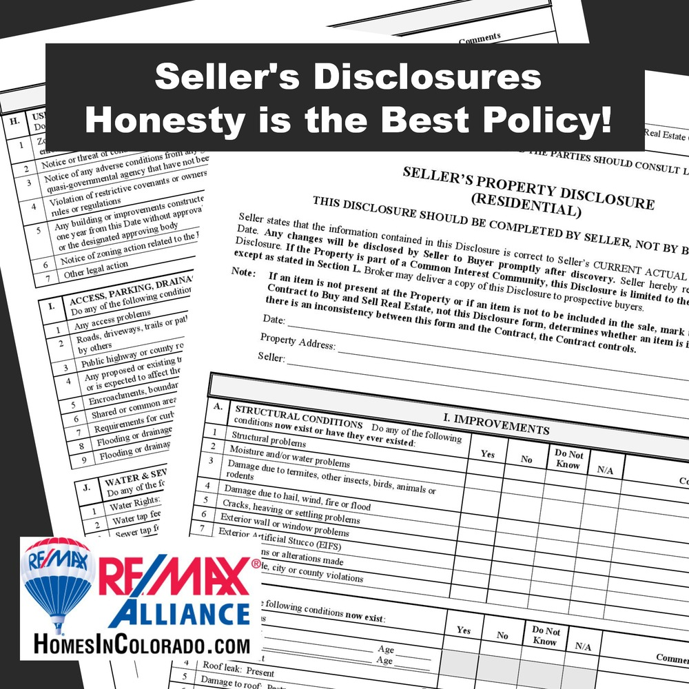 Seller S Disclosures Honesty Is The Best Policy Re Max Alliance