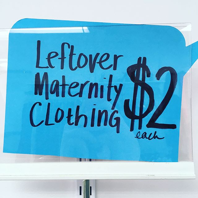 $2 for #maternity clothes! Come and get 'em if you're preggers or not. . . . #clearance #closingsale #sale #downtownkitchener #dtkitchener #uptownwaterloo #shoplocal #kwawesome